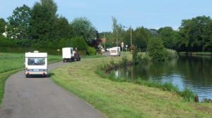 Traversée de la Meurthe et Moselle : passage de la Meurthe et de longer le canal.