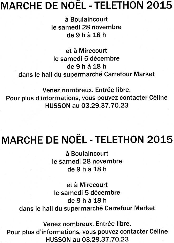 Téléthon 2015 Mirecourt Boulaincourt