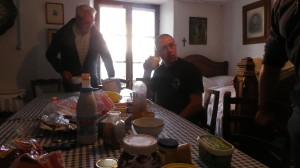 déjeuner avant le départ