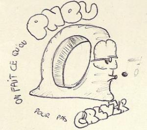 illustration pneu crevée